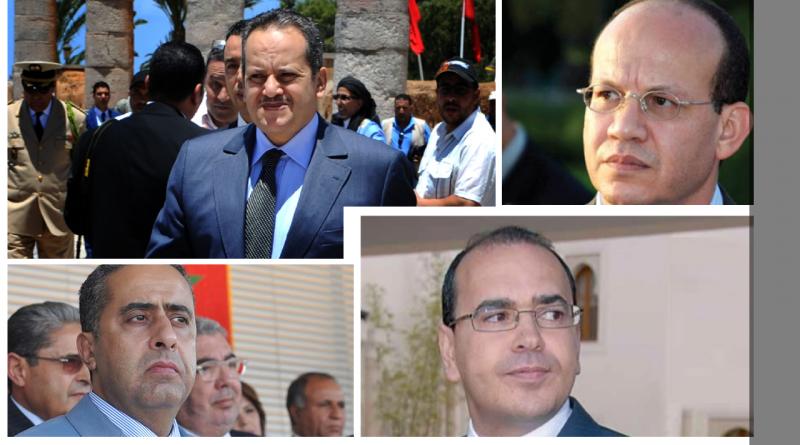 """El-Himma, El-Majidi, Hammouchi und Mansouri: die vier """"Freunde"""" des Königs, die Marokko regieren."""