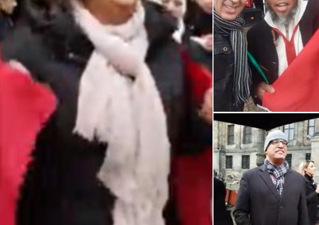 Wenige marokkanische Monarchisten sind dem Aufruf der Botschaft gefolgt, um die Flagge von Hubert Lyautey zu verteidigen.