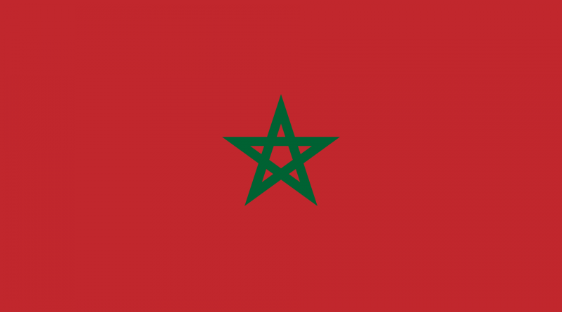 From leap of the Moroccan flag and the Moroccan national anthem